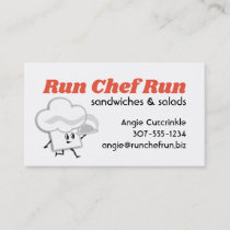 Chef hat food delivery chef catering business card