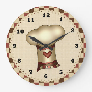 Chef Hat kitchen clock