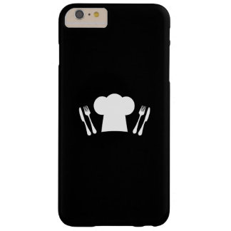 Chef Hat Knife and Fork Kitchen or Restaurant Barely There iPhone 6 Plus Case