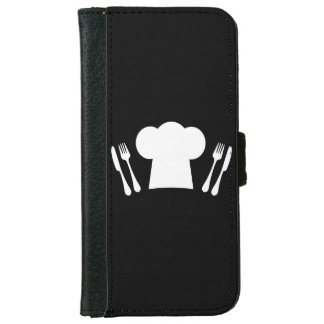 Chef Hat Knife and Fork Kitchen or Restaurant iPhone 6/6s Wallet Case