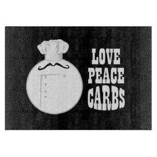 Chef Hat Love Peace Carbs Cutting Board