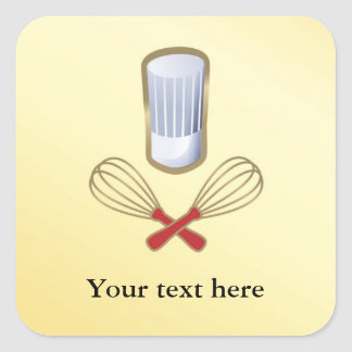 Chef Hat Personalized  Labels Stickers