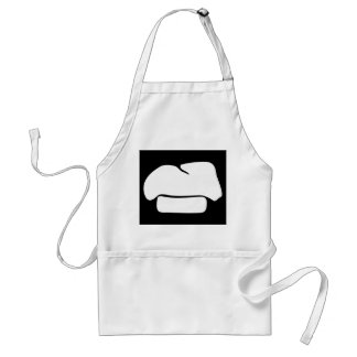 chef hat silhouette adult apron