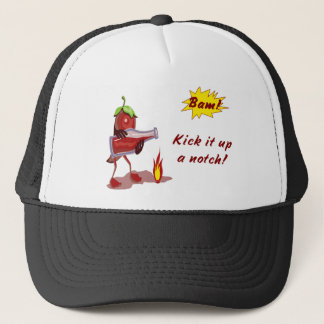 Chef Hat with Hot Red Pepper