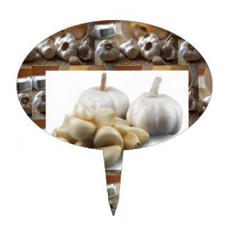 Chef Healthy Eating Cuisine Art Garlic Seasoning Cake Topper