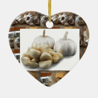Chef Healthy Eating Cuisine Art Garlic Seasoning Ceramic Ornament