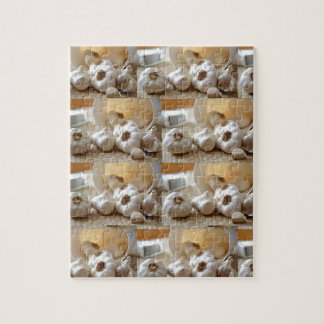 Chef Healthy Eating Cuisine Art Garlic Seasoning Jigsaw Puzzle