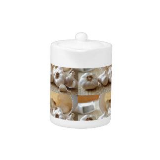 Chef Healthy Eating Cuisine Art Garlic Seasoning Teapot