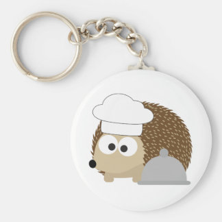 Chef Hedgehog Keychain