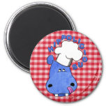 Chef Hippo- Hippolicious Fridge Magnet