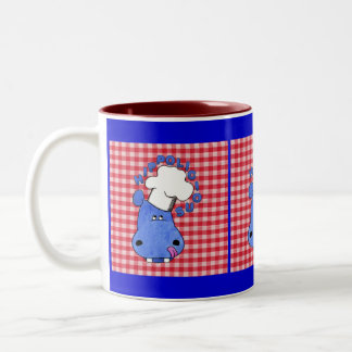 Chef Hippo-Hippolicious Two-Tone Coffee Mug