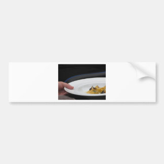 Chef holding cooked handmade Agnolotti to serve Bumper Sticker