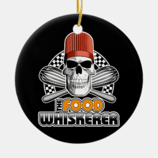 Chef Humor: Food Whiskerer v1 Double-Sided Ceramic Round Christmas Ornament