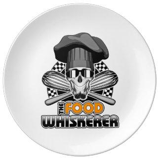 Chef Humor: Food Whiskerer v3 Dinner Plate