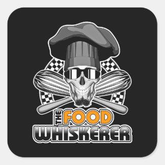 Chef Humor: Food Whiskerer v3 Square Sticker