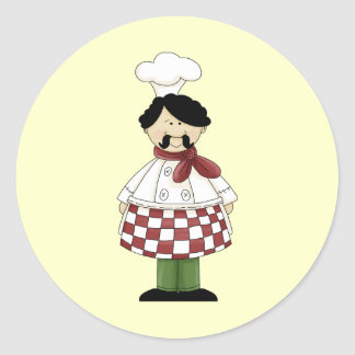 Chef I Classic Round Sticker