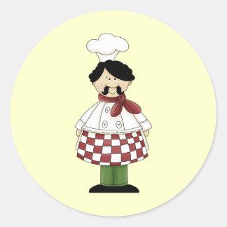 Chef I Round Stickers