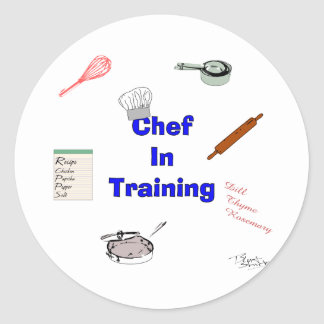 Chef in Training Classic Round Sticker