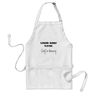 Chef in training, YOUR KIDS NAME Adult Apron