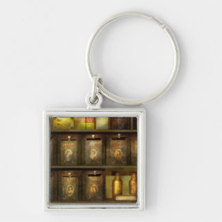 Chef - Ingredients - The spice extends life Silver-Colored Square Keychain