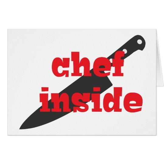 Chef Inside Card