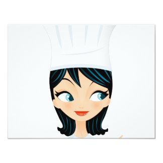 """Chef 4.25"""" X 5.5"""" Invitation Card"""