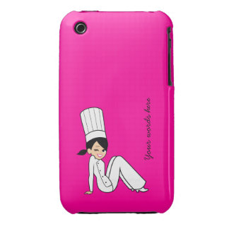 Chef Iphone 3G Case on Pink iPhone 3 Case-Mate Cases