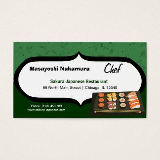 Chef Japanese Restaurant Business Card