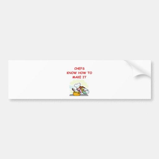 CHEF joke Bumper Sticker