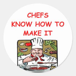 CHEF joke Round Sticker