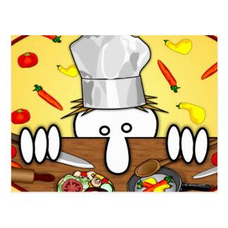 Chef Kilroy Postcard