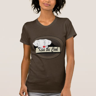 Chef Kiss the Cook LadiesBrown T-shirt