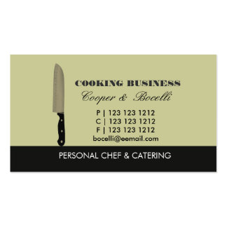 Chef  Knife Catering Cooking Sharp Weapon Double-Sided Standard Business Cards (Pack Of 100)