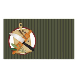 chef knife rollingpin cutting board cooking culina business card