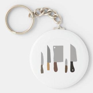 Chef Knives Basic Round Button Keychain