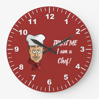 Chef Large Clock