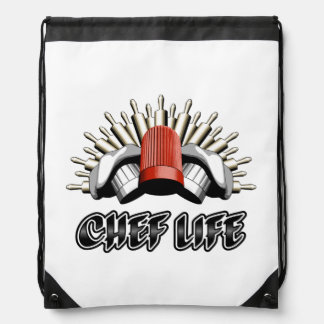 Chef Life: Baker Style Drawstring Backpack