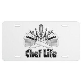 Chef Life: Kitchen Utensils License Plate