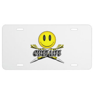 Chef Life: Pastry Smiley License Plate