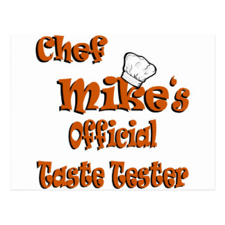 Chef Mike's taste tester Postcard