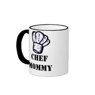 Chef Mommy Ringer Coffee Mug