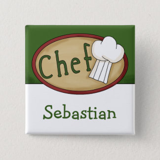 Chef Name ID Pinback Button