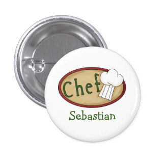Chef Name ID V2 Pinback Button