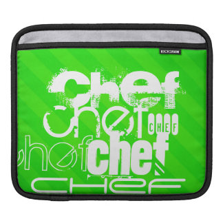 Chef; Neon Green Stripes Sleeve For iPads