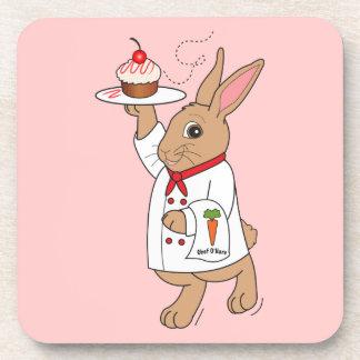 Chef O'Hare: Cherry Cheesecake Cupcake Drink Coaster
