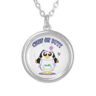 Chef on Duty Penguin Female Pendant