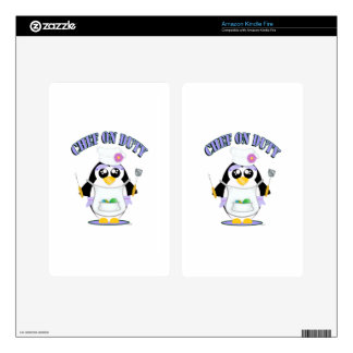 Chef on Duty Penguin Female Decals For Kindle Fire