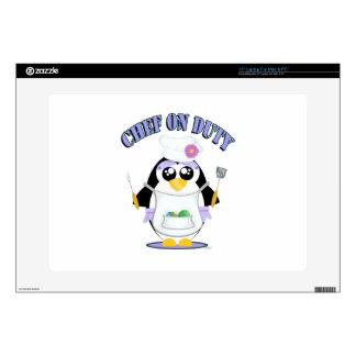 """Chef on Duty Penguin Female 15"""" Laptop Skins"""