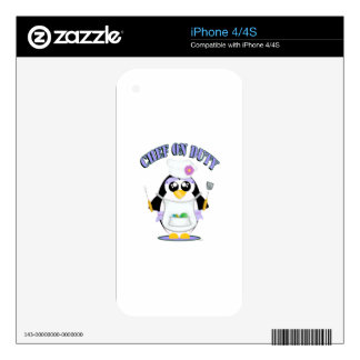 Chef on Duty Penguin Female iPhone 4S Skins
