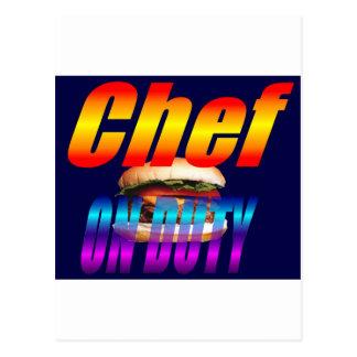 CHEF ON DUTY POSTCARD